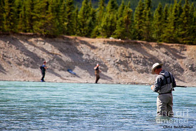 Photograph - Salmon Fishing by Chris Heitstuman