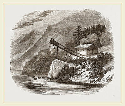 Norway Drawing - Salmon-fishing On Lake Sostrand Norway by Litz Collection