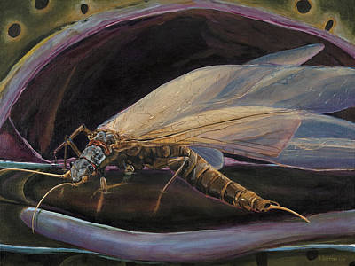 Salmon Fly Dinner Art Print