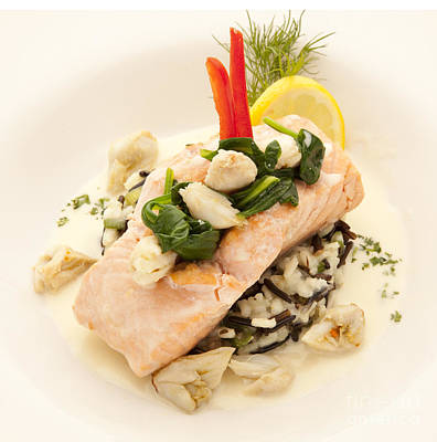 Photograph - Salmon by New  Orleans Food