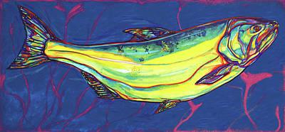 Fionn Mac Cumhaill Painting - Salmon Of Knowledge by Derrick Higgins