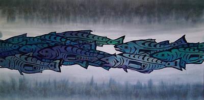 Salmon Passing Art Print by Carolyn Doe