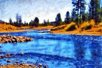 Digital Art - Salmon River Fishing Area by Kaylee Mason