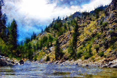 Digital Art - Salmon River by Kaylee Mason
