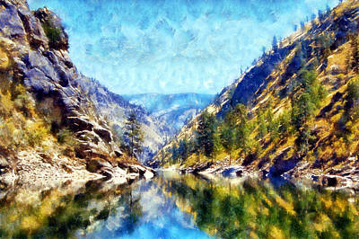 Digital Art - Salmon River Reflections by Kaylee Mason
