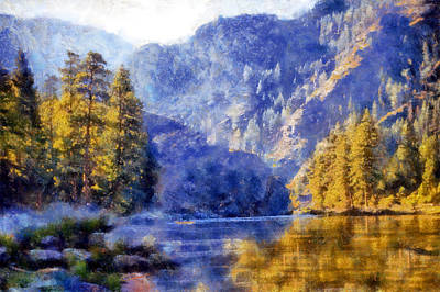 Digital Art - Salmon River Valley by Kaylee Mason