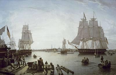 Salmon, Robert 1775-1845. Boston Art Print by Everett