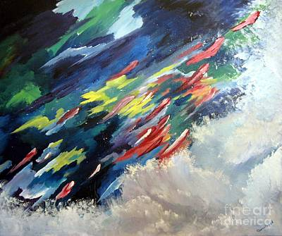Painting - Salmon Run by Carol Sweetwood