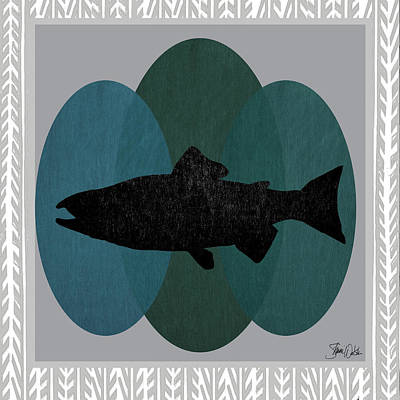 Salmon Painting - Salmon by Shanni Welsh