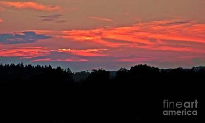 Photograph - Salmon Skies by Christian Mattison