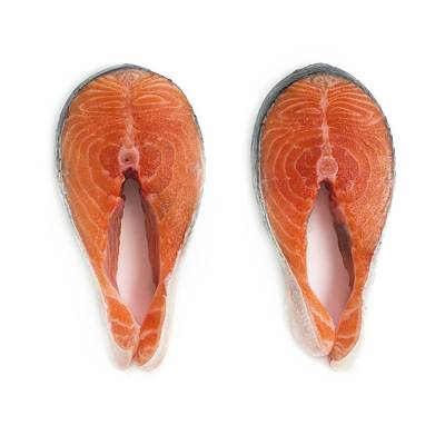 Salmon Steaks Art Print by Science Photo Library