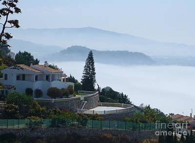 Photograph - Salobrena - Morning Mist by Phil Banks