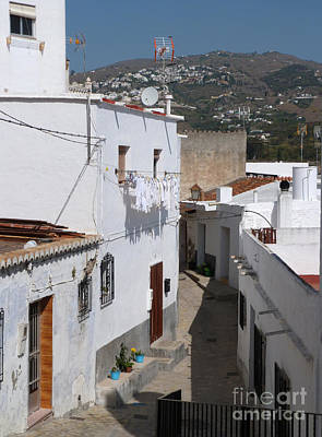 Photograph - Salobrena Street - Spain by Phil Banks