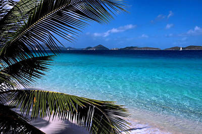 Boat Photograph - Saloman Beach - St. John by Stephen  Vecchiotti