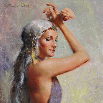 Gypsy Painting - Salome by Anna Rose Bain