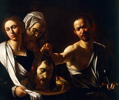 Salome Receives Head Of John The Baptist Art Print by Michelangelo Merisi da Caravaggio