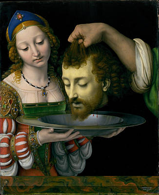 Baptist Painting - Salome With The Head Of Saint John The Baptist by Andrea Solario