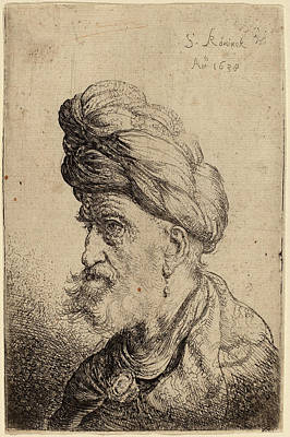 Salomon Koninck Dutch, 1609 - 1656, Bust Of A Man Art Print by Quint Lox