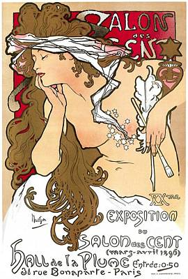 Beauty Painting - Salon De Cents by Alfonse Mucha
