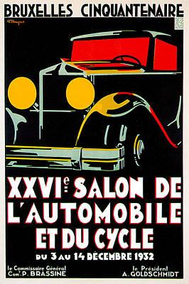 Photograph - Salon De Lautomobile Et Du Cycle by Vintage Automobile Ads and Posters