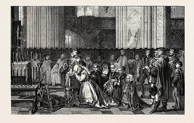 Salon Of 1855. Belgian School Art Print