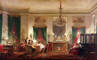 Salon Of Princess Mathilde Bonaparte 1820-1904 Rue De Courcelles, Paris, 1859 Oil On Canvas Art Print
