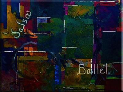 Art Print featuring the painting Salsa Ballet by Lisa Kaiser