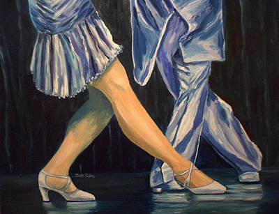 Puerto Rico Painting - Salsa Stepping by Julie Brugh Riffey