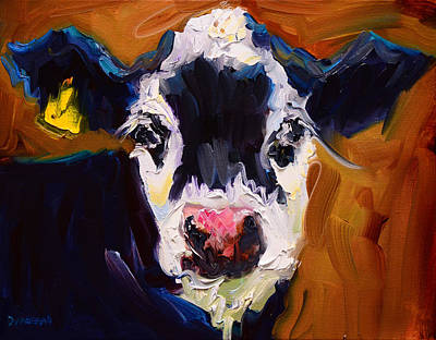 Salt And Pepper Cow 2 Art Print