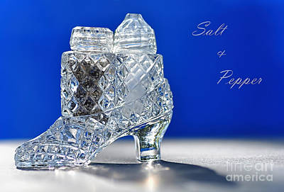 Salt And Pepper Photograph - Salt And Pepper In A Slipper - Antique by Kaye Menner