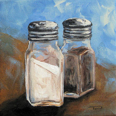 Pepper Painting - Salt And Pepper Iv by Torrie Smiley