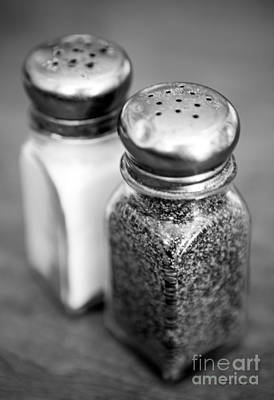 Black And White Art Photograph - Salt And Pepper Shaker by Iris Richardson