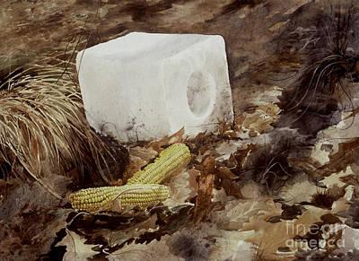 Corn Painting - Salt Block by Monte Toon