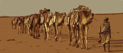 Sahara Mixed Media - Salt Caravan 2 by Anthony Dalton
