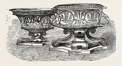 Salt-cellars Print by Lias And Son, English, 19th Century