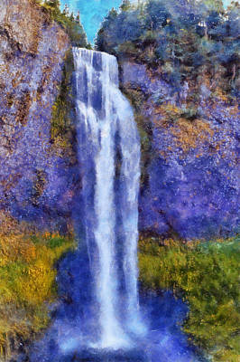 Digital Art - Salt Creek Falls by Kaylee Mason