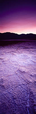 Salt Flat Images Photograph - Salt Flat At Sunset, Death Valley by Panoramic Images