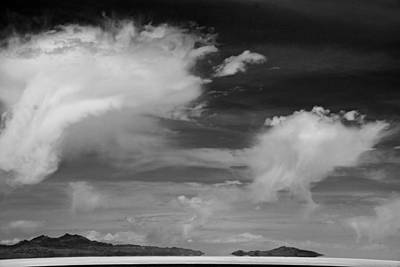 Photograph - Salt Flats Clouds by Eric Tressler