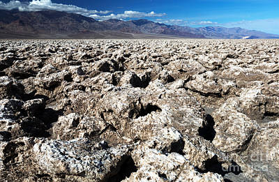 Photograph - Salt In Death Valley by John Rizzuto