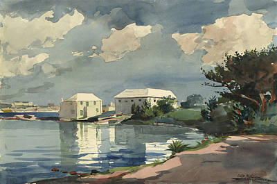 Winslow Homer Seascape Painting - Salt Kettle Bermuda by Winslow Homer