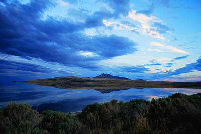 Photograph - Salt Lake Antelope Island by Matt Harang