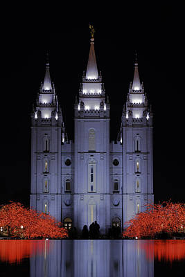 Salt Lake Temple Wall Art - Photograph - Salt Lake Christmas by Chad Dutson