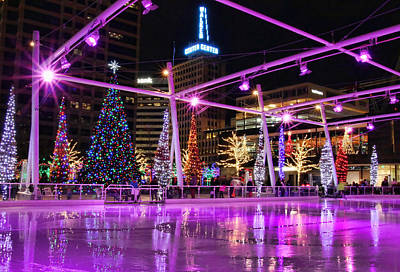 Photograph - Salt Lake City - Skating Rink - 2 by Ely Arsha