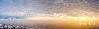Salt Lake City Smog Sunset Original