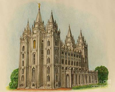 Salt Lake City Temple II Art Print