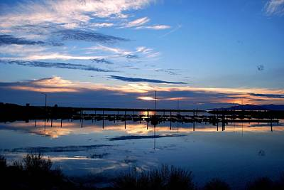 Photograph - Salt Lake Marina Sunset by Matt Harang