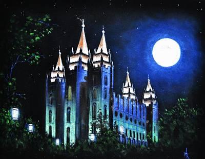 Salt Lake Mormon Lds Temple Original