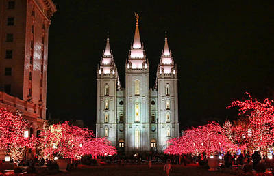 Photograph - Salt Lake Temple - 1 by Ely Arsha