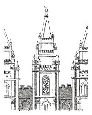 Salt Lake Temple Art Print by Aaron Bodtcher