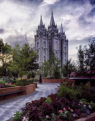Mormon Temple Photograph - Salt Lake Temple by Mountain Dreams